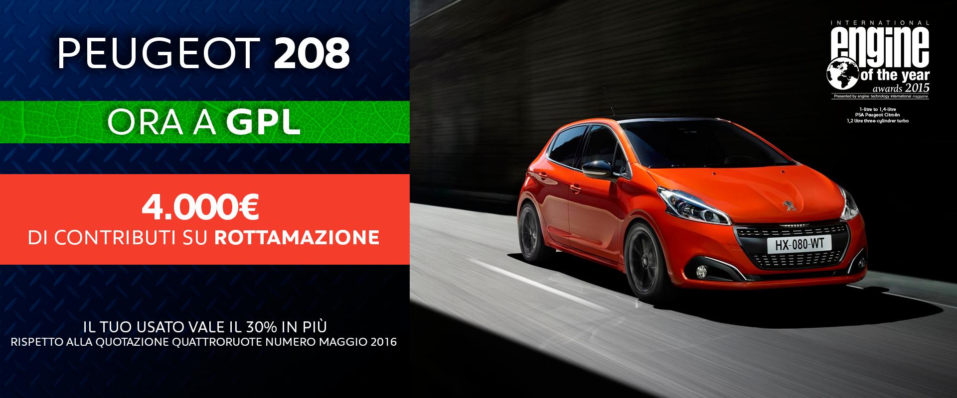 peugeot roma promozione rottamazione 208 professione auto