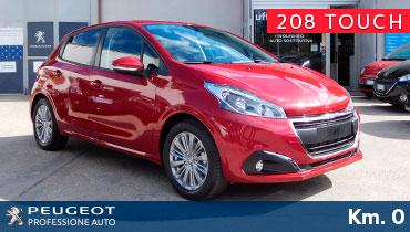 peugeot km 0 professione auto peugeot roma peugeot 208 touch limited edition rosso