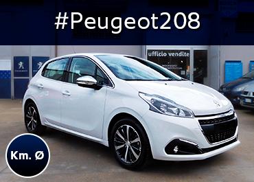 Peugeot 208 Professione Auto Peugeot Roma Km0 Bianco Banchisa