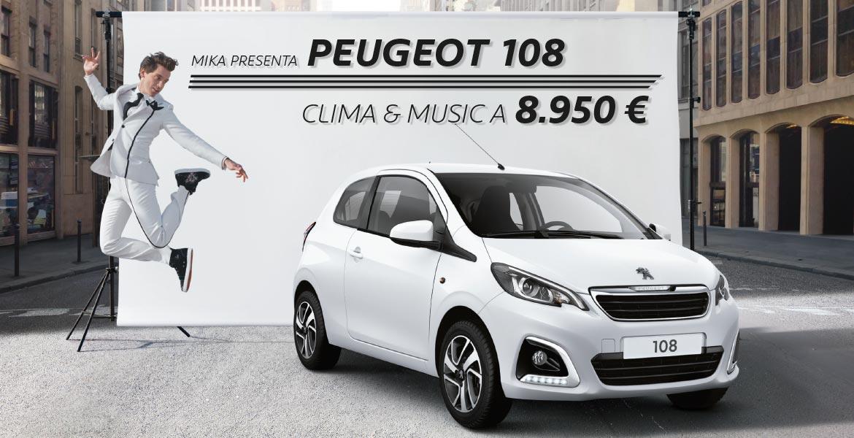 Professione Auto Peugeot Roma Peugeot 108 a 8950 euro