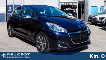 usato garantito plurimarca professione auto peugeot roma peugeot 208 allure diesel km0 dark blue