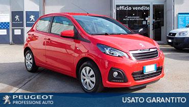 usato garantito plurimarca professione auto peugeot roma peugeot 108 active rossa